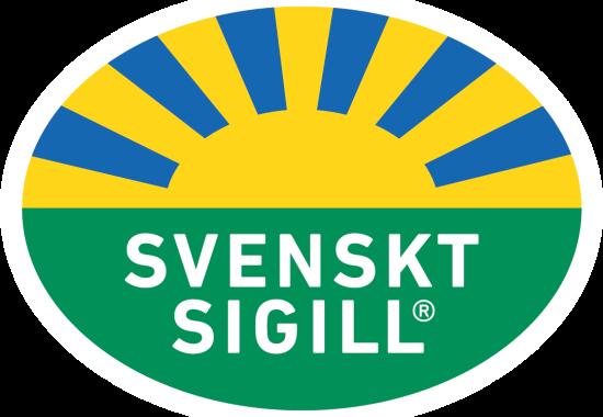 Svenskt Sigill är märket för en hållbar produktion av bär och frukt mm.